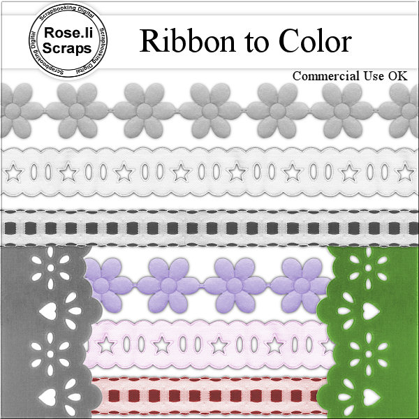 Ribbons PNG Templates by Rose.li