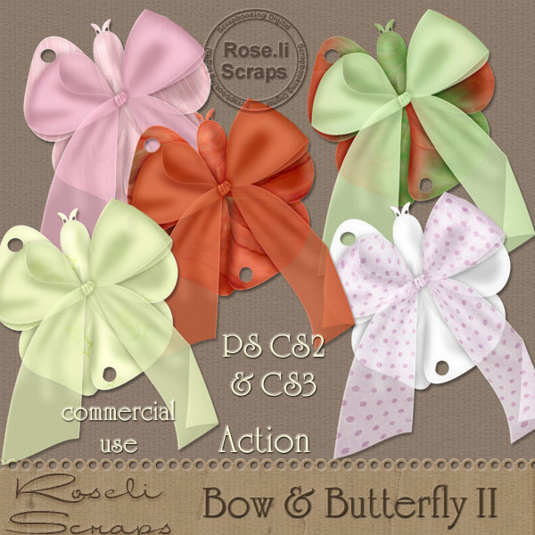 Action - Bow & Butterfly II by Rose.li