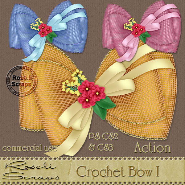 Action - Crochet Bow I by Rose.li