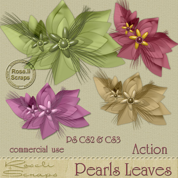 Action - Pearl Leaves by Rose.li