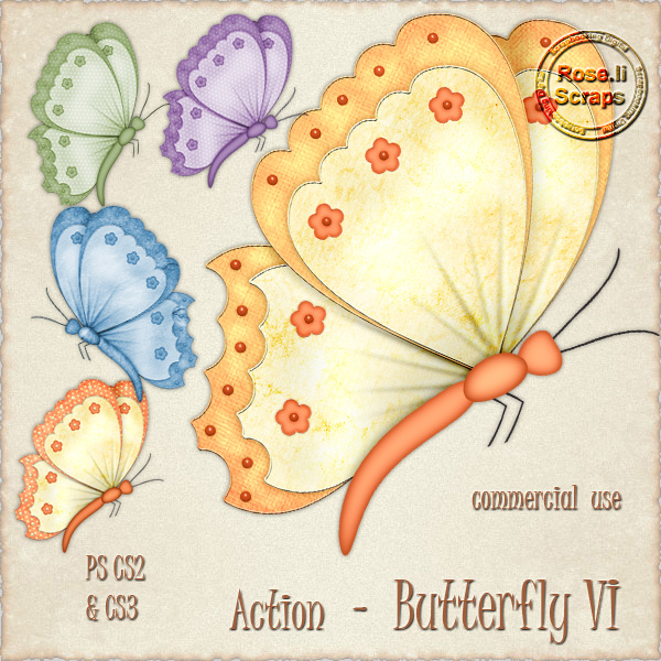 Action - Butterfly VI by Rose.li