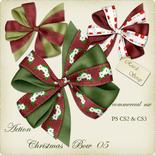 Action - Christmas Bow 05 by Rose.li