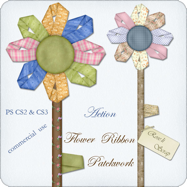 Action - Flower Ribbon Patchwork by Rose.li