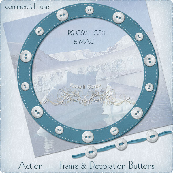 Action - Frame & Decoration Buttons by Rose.li