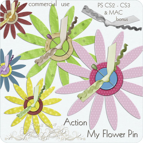 Action - My Flower Pin by Rose.li