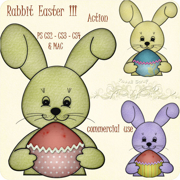 Action - Rabbit Easter III by Rose.li