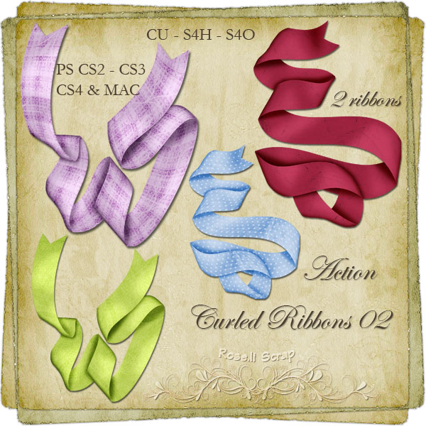 Action - Curled Ribbons II by Rose.li
