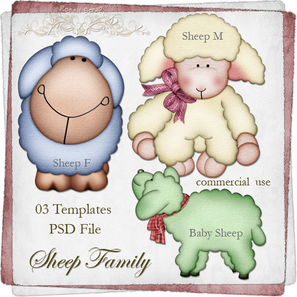 Sheep Family TEMPLATE by Rose.li
