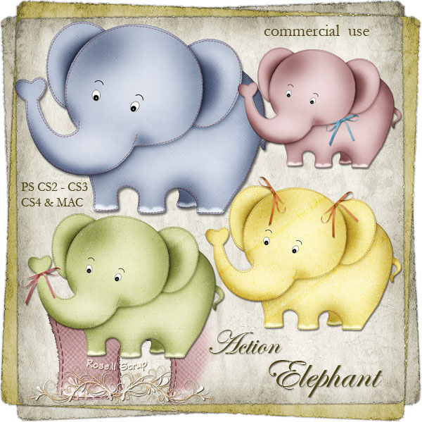Action - Elephant by Rose.li