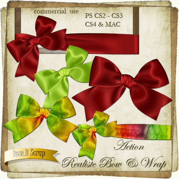 Action - Realistic Bow & Wrap by Rose.li
