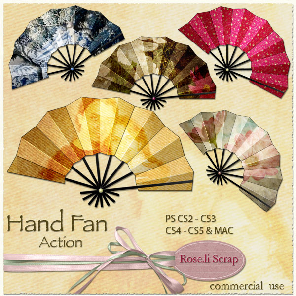 Action - Hand Fan by Rose.li
