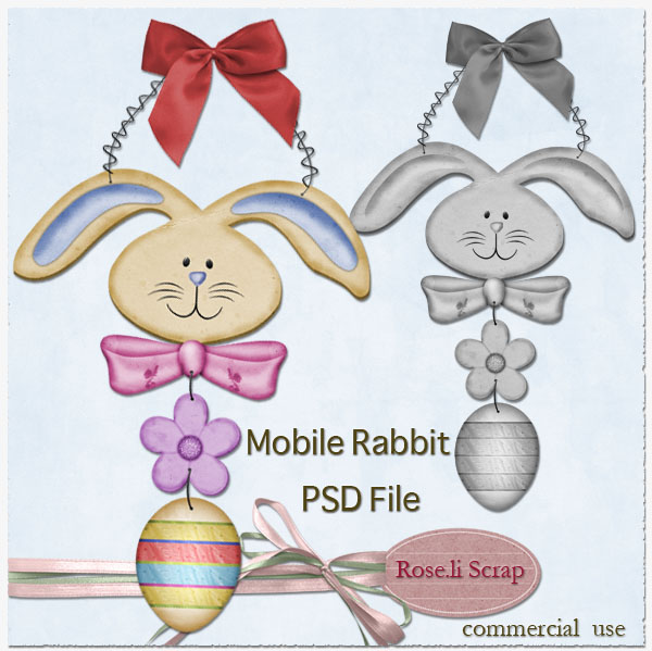 Rabbit Mobile TEMPLATE by Rose.li
