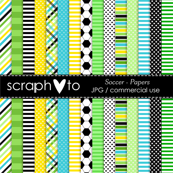Soccer Papers by Scraphoto Studio