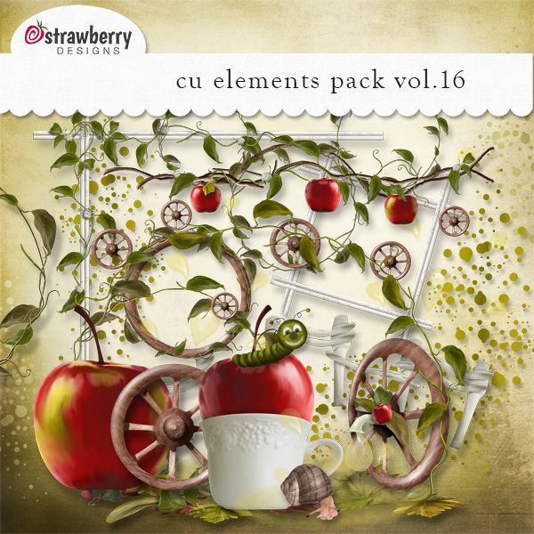 Country Apple Element Mix Vol 16 by Strawberry Designs