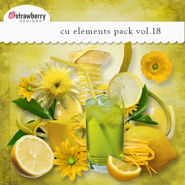 Yellow Lemon Element Mix Vol 18 by Strawberry Designs