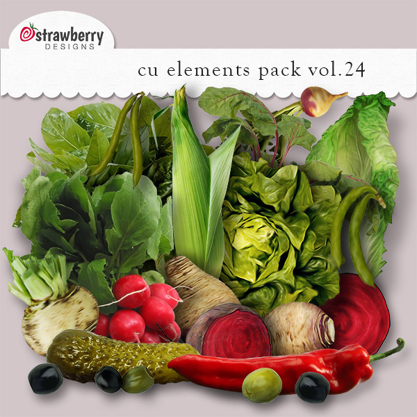 Vegetables Element Mix Vol 24 by Strawberry Designs