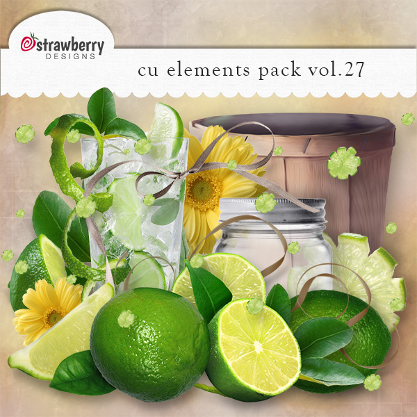 Green Lemon Element Mix Vol 27 by Strawberry Designs
