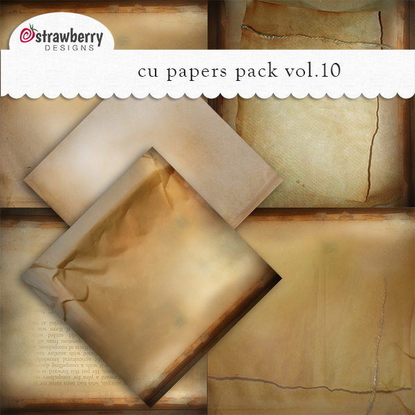 CU Papers Vol 10 Brown by Strawberry Designs