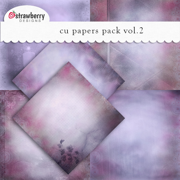 Papers Vol 2 Violet by Strawberry Designs