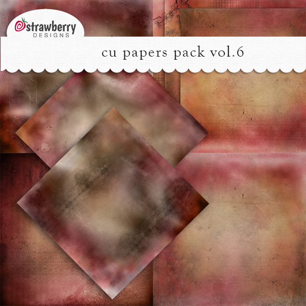 CU Papers Vol 6 Red - Brown by Strawberry Designs