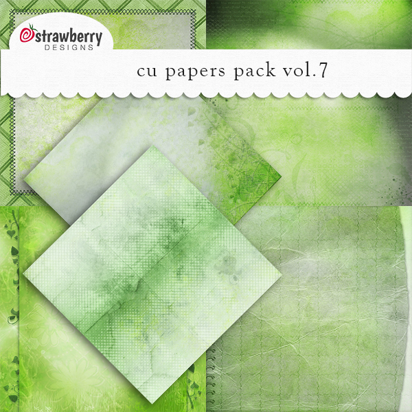 CU Papers Vol 7 Green by Strawberry Designs